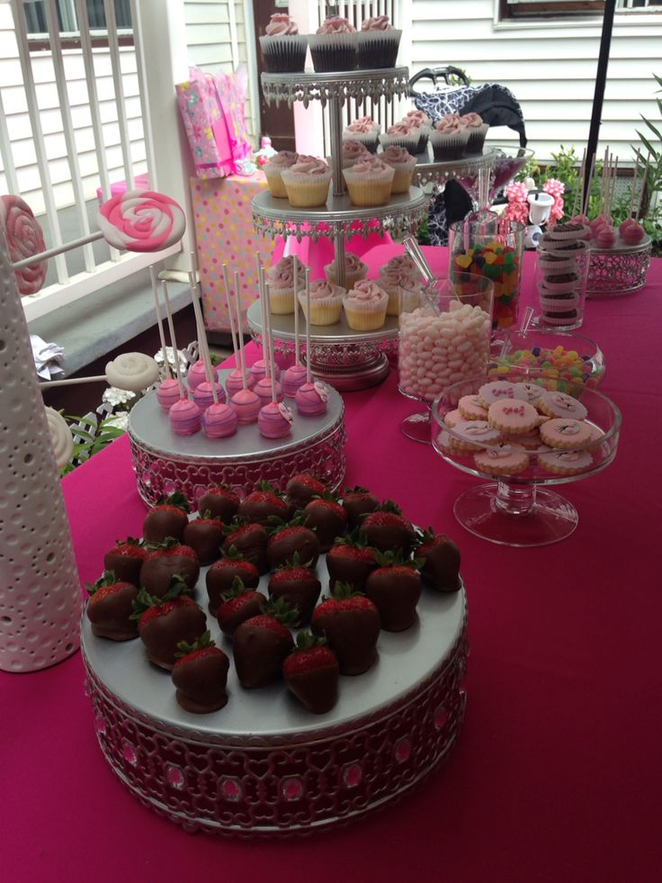 Lady Bug Candy Bar ~chocolate cupcakes ~ Oreo dipped cookies ~ strawberries ~ candy ~ Cakepops ~ blush theme lady bugs