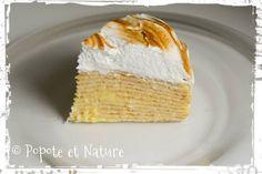 Gâteau de crêpes façon tarte au citron meringuée, mais on peut les faire au chocolat, à la confiture, chantilly.......