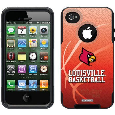 University of Louisville Basketball Design on OtterBox Commuter Series Case for Apple iPhone 4/4s