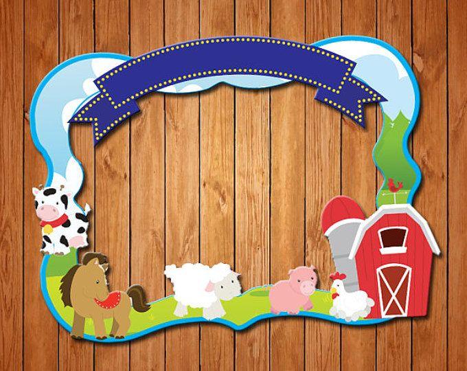 Farm  themed party photo frame