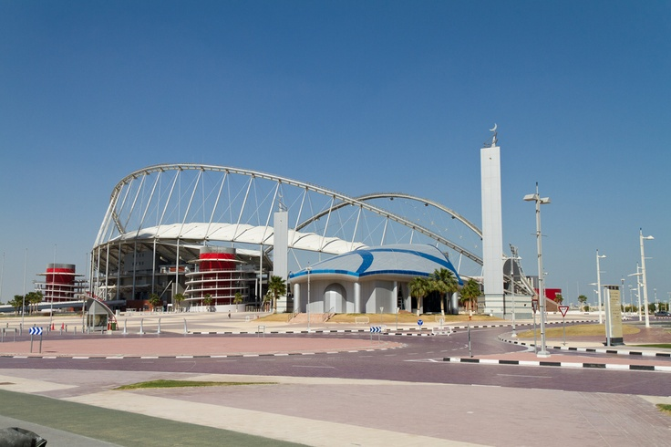 #Doha's new Khalifa Stadium. Credit: Xavier Bouchevreau