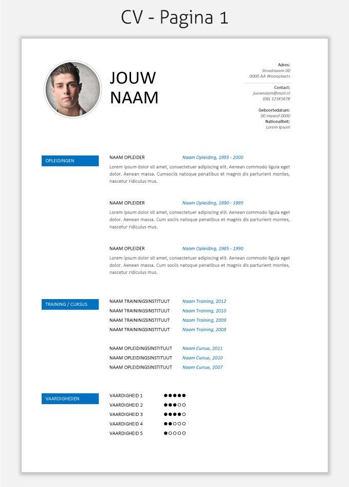 CV template 274 om te downloaden