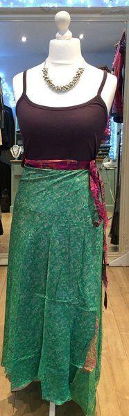 Festival hippy long silk wrap skirt / dress #30
