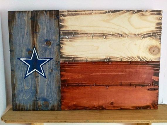 Dallas Cowboys Texas Flag by CowboyCapitalSigns on Etsy