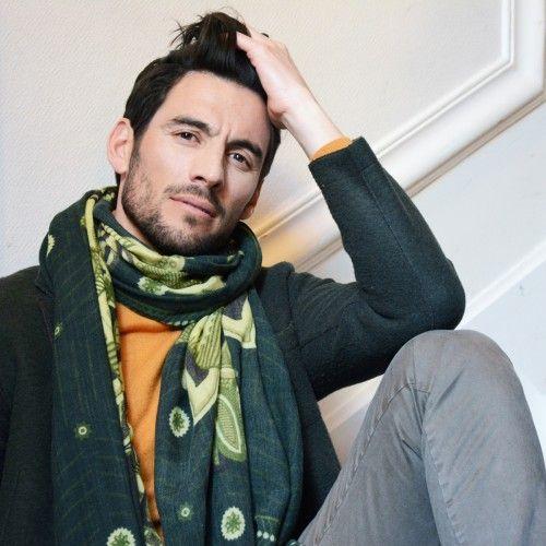 2841ea2229f6 Echarpe en laine LEOPOLD vert   Fashion man   Mens fashion, Fashion