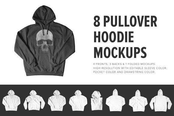 8 Premium Pullover Hoodie Mockups Hoodie Mockup Mockup Design Clothing Mockup
