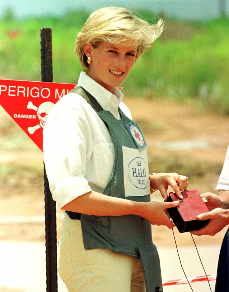 Even after her divorce, Princess Diana continued her charity work around the world. Diana was heavily involved with HALO Trust, the world's oldest and largest landmine clearance organization. Diana visited Angola where she toured a minefield while donning a flak jacket to fully immerse herself in the situation.