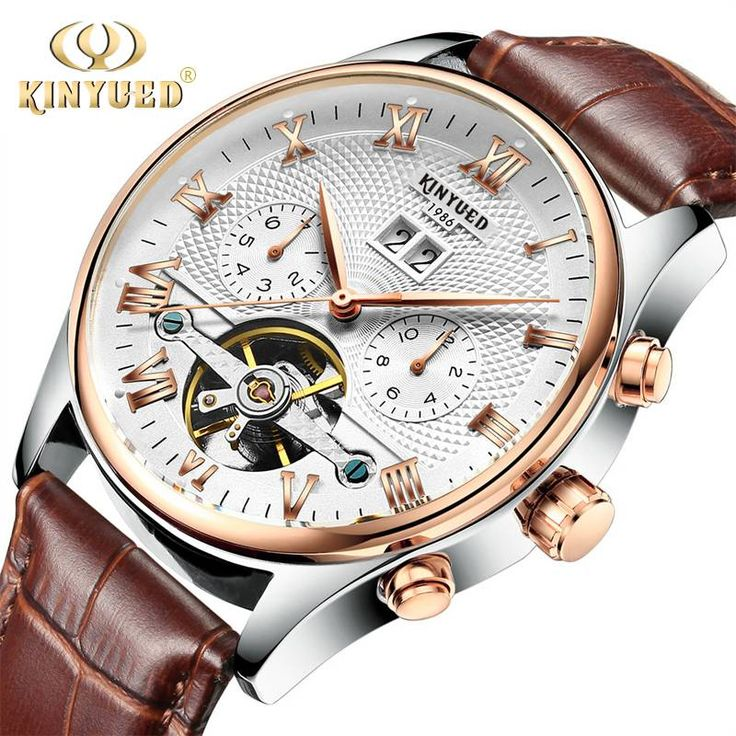 KINYUED Skeleton Tourbillon Mechanical Watch Men Automatic Rose Gold Leather     Tag a friend who would love this!     FREE Shipping Worldwide     Buy one here---> https://www.greatdealbazar.com/product/kinyued-skeleton-tourbillon-mechanical-watch-men-automatic-rose-gold-leather/