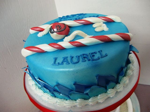 Swimmer 39 s themed birthday cake showers pinterest - Swimming pool birthday cake pictures ...