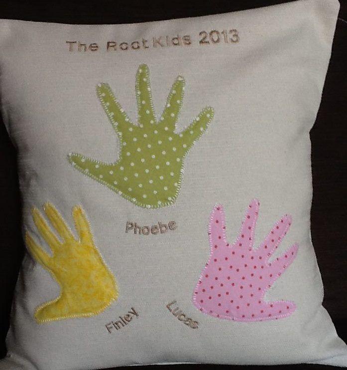 Handprint Pillow - The Supermums Craft Fair