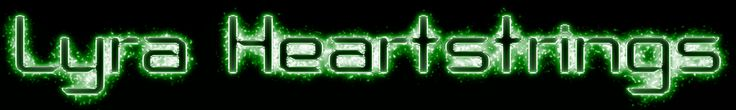 Lyra Heartstrings (Green Light and Glow Text Effects)
