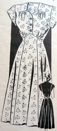 Vintage sewing pattern: 1950s mail order dress by vintagemode, via Flickr