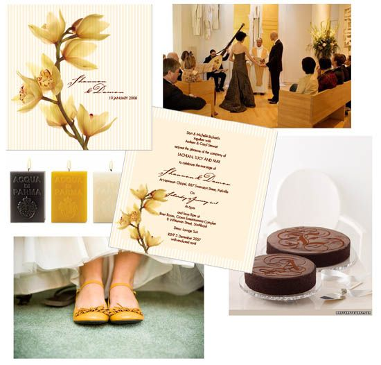 #gold #brown #wedding decor and #invitations #stationery
