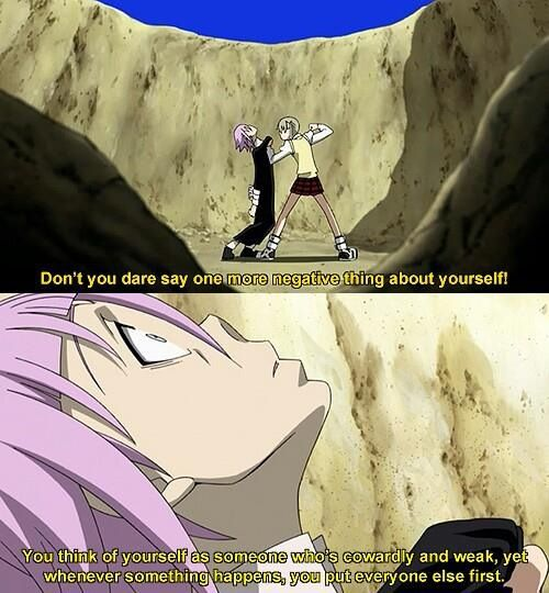 Soul Eater- I am Crona. It has been pointed out to me on many occasions by my good friend. Still, one of my favourite scenes ever. <3