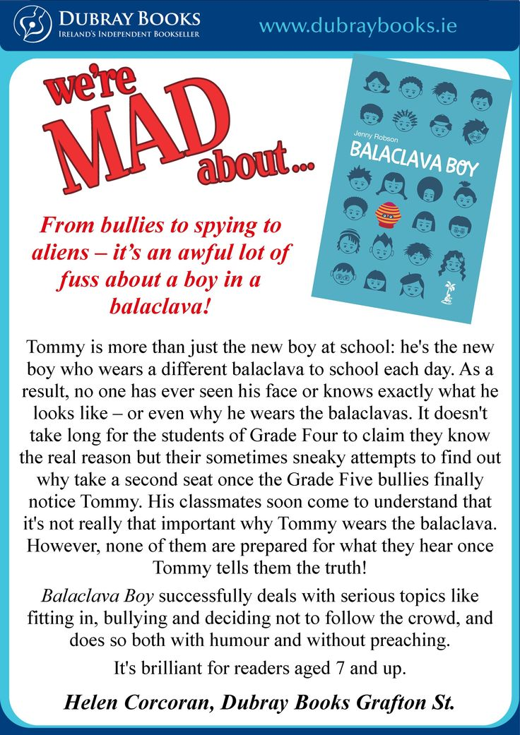 Balaclava Boy chosen as Dubray Books children's book of the month - July 2014!