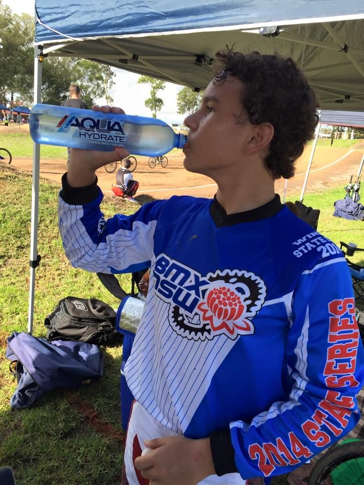 It's very hot and humid this morning for the first round of the NSW State Series. Glad I have AQUAhydrate on board, it's going to be a long day!