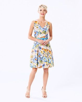 Buy Butterscotch Floral Dress by Review online at THE ICONIC. Free and fast delivery to Australia and New Zealand.