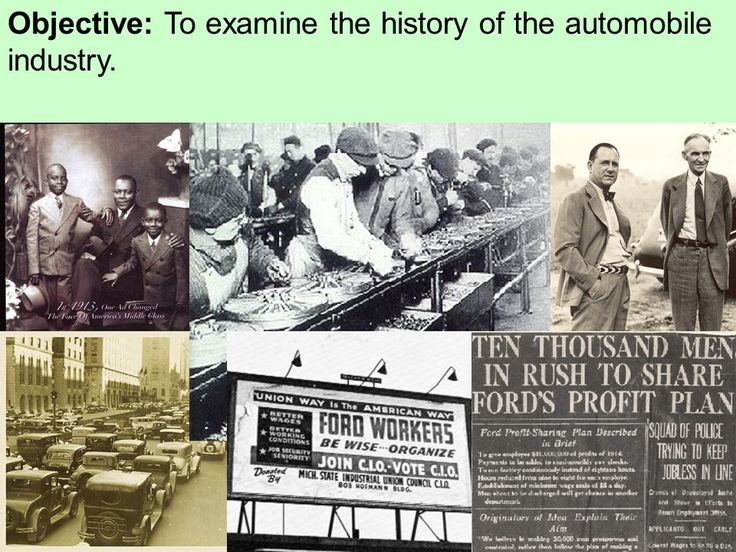 Henry Ford and the Automobile Industry PowerPoint Presentation Key Terms and People: Henry Ford Ford Model-T Assembly Line River Rouge plant Anti-Semitism The Dearborn Independent General Motors Great Depression Harry Bennett Hunger March Public Works Administration (PWA) Unions United Auto Workers (UAW)  http://mrberlin.com/henryfordandtheautomobileindustrypowerpointpresentation.aspx