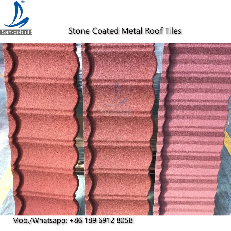 Decorative Corrugated Stone Coated Metal Roofing Tiles Price
