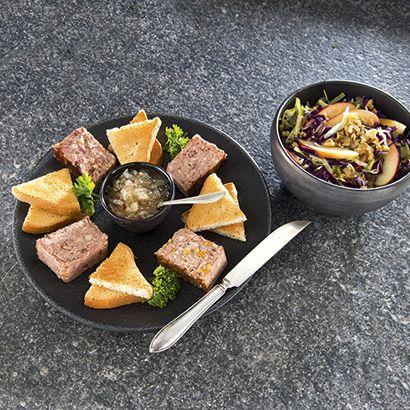 ALDI België - Recept - Paté van fazant met uienkonfijt en geroosterd brood