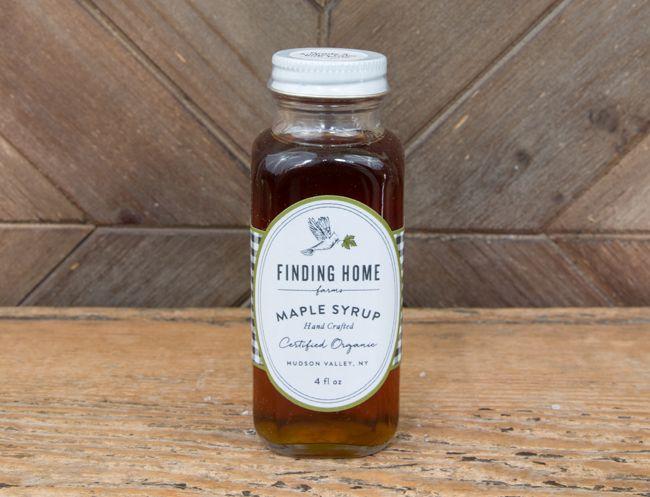 Set of three 4 oz. organic maple syrup bottles