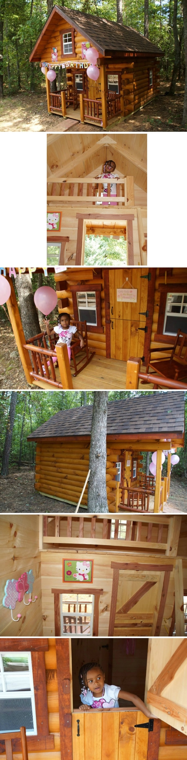 Surprise birthday playhouse cabin!