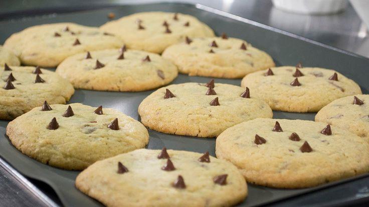 Receta. Galletas de mantequilla con chips de chocolate y caramelo