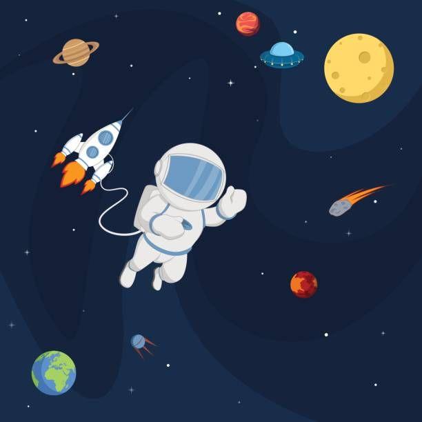 80+ Foto Gambar Kartun Astronot Kekinian