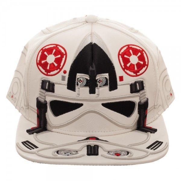 Star Wars AT-AT Pilot Driver Faux Leather Snapback Hat Stormtrooper Helmet HOTH #Bioworld #BaseballCap