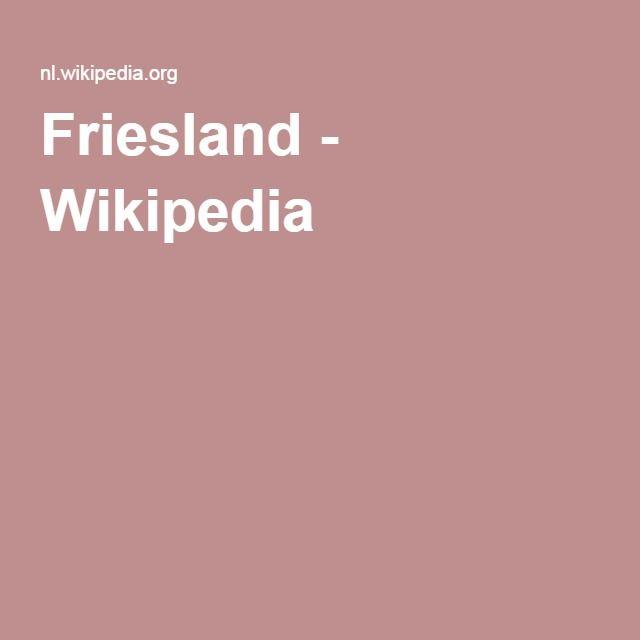 Friesland - Wikipedia