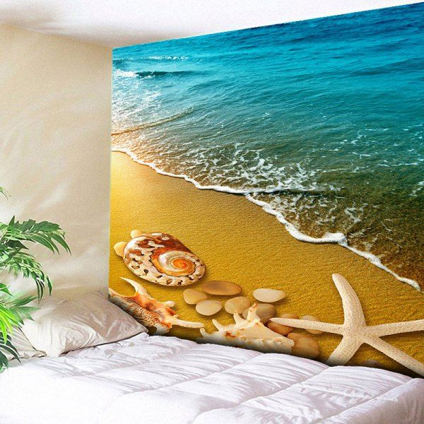 $9.58 Home Decor Wall Hanging Beach Style Tapestry - Sand Yellow - W51 Inch * L59 Inch