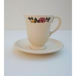 Koffiekop en schotel Wedgwood Briar Rose