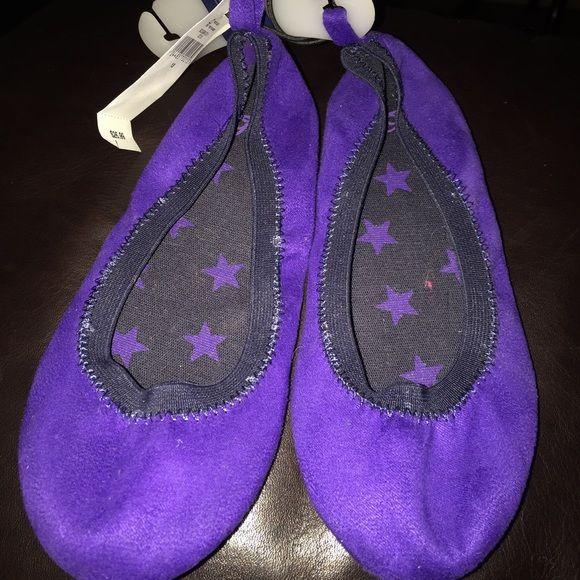Girl shoes Gap Purple ballet flats GAP Shoes