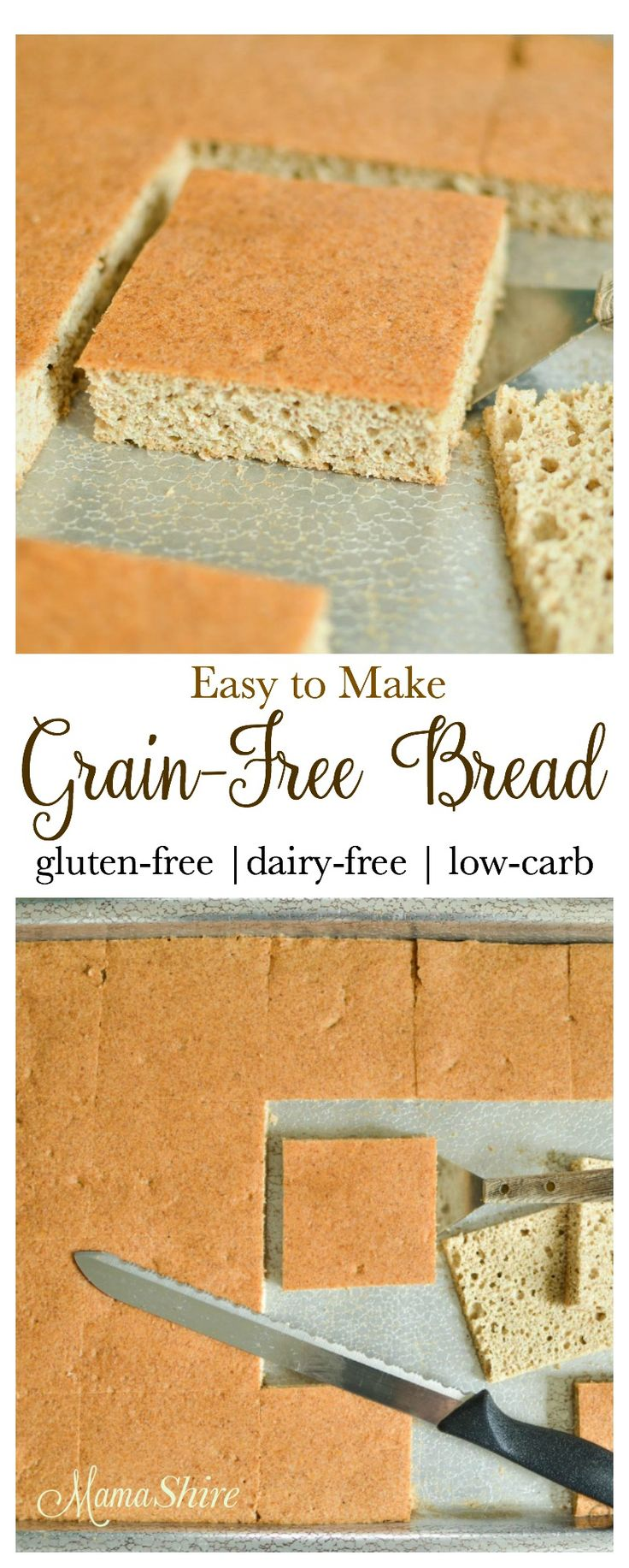 Easy to make Gluten-free Bread. A family favorite! This bread is perfect for sandwiches, toast or buns. Grain-free, Dairy-free, Trim Healthy Mama (S)