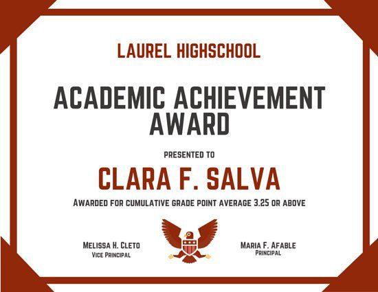 19 best school certificate images on pinterest certificate certificate of achievement template certificate of achievement office templates free printable certificates of achievement formal award certificate yadclub Gallery