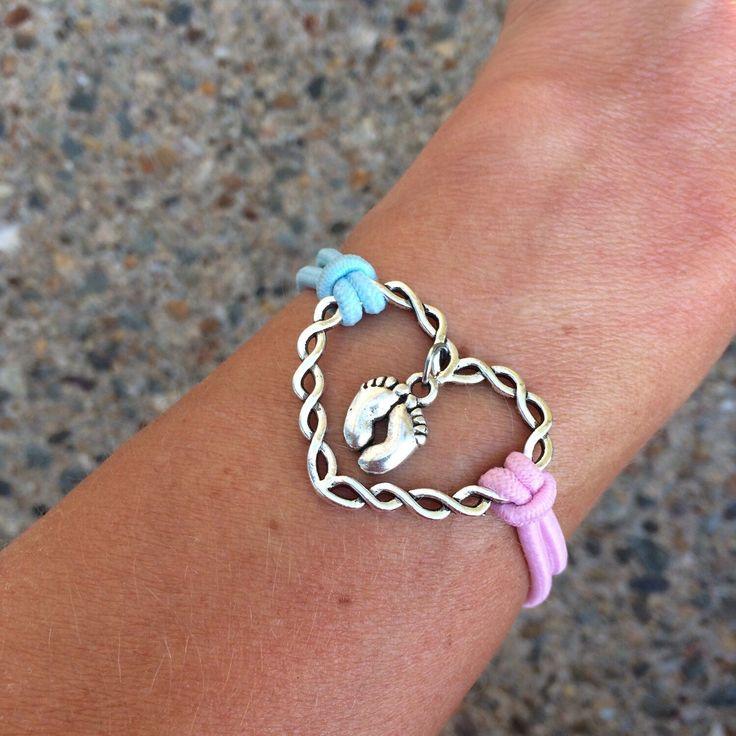 Twisted Heart Infant Loss Soul Prints Bracelet   Memorial Bracelet by HEAVENSBOOK on Etsy