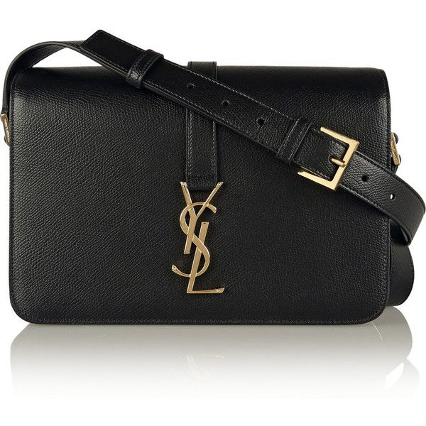 tag purse - Saint Laurent Monogramme Sac Universit�� medium textured-leather ...