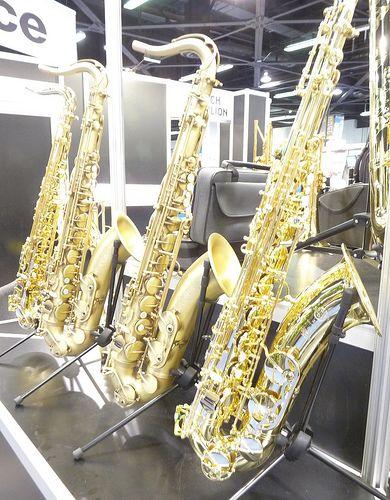 Selmer Saxophones display