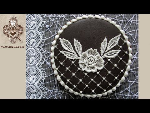 VIDEO. Classic Black & White Wedding Cookie. Cookie decorating with royal icing. Video tutorial - YouTube