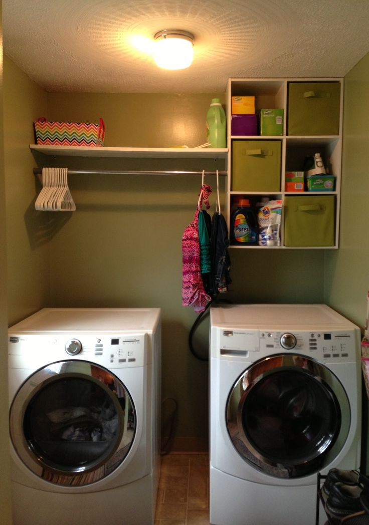 Refinished and organized laundry room!