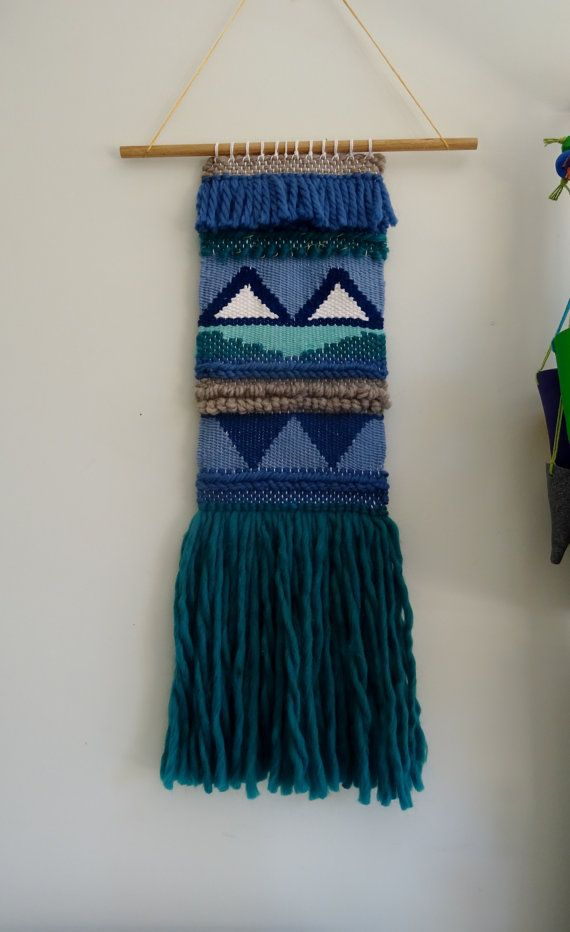 Hand Woven Hanging Wall Tapestry by racheljOK on Etsy