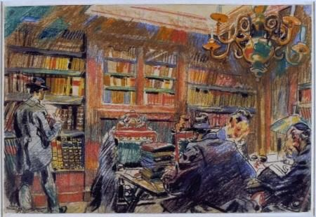 17 best images about paintings with libraries bookshops on pinterest windsor maids and - Interieur bibliotheek ...