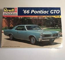 Vintage Revell Monogram 1966 Pontiac GTO Plastic Model Car Kit 1:25 New Sealed