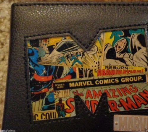 Marvel Comics Wallet Spiderman Hulk Brand New in Metal Tin
