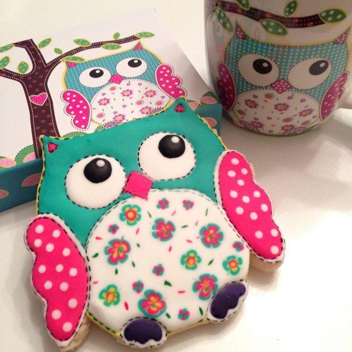 Colorful Owl! | Cookie Connection. Soooooo cute!