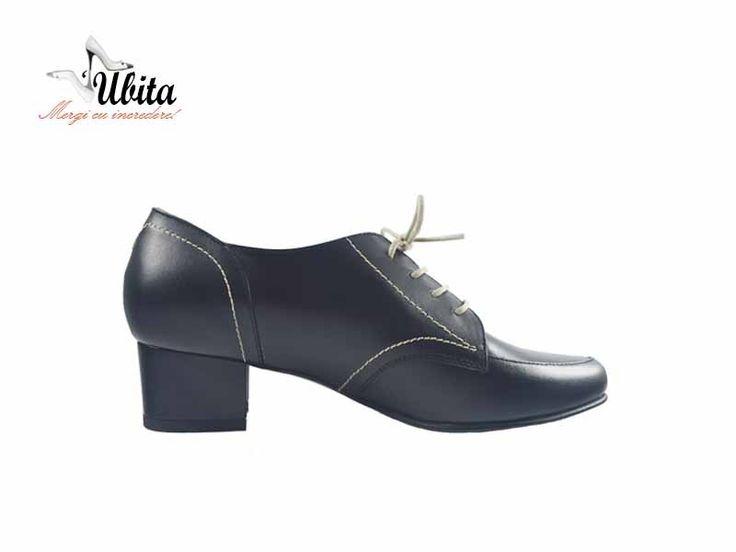 Poze Pantofi cu siret din piele naturala pe orice culoare