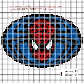 Cross-stitch Spiderman design...   Ponto Cruz da Drayzinha