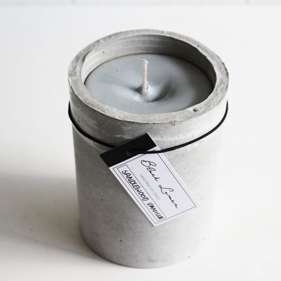 Scented Soy Candle - Cement Pillar | my mum made it