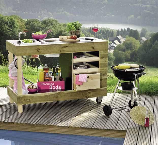 """Sieht gut aus, richtig? Gartenküche """"Chef"""". Repinned by … #garden #great #kitchen #looks #palletideas"""