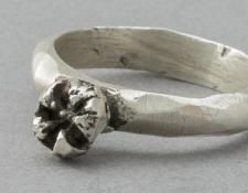 QUOIL Gallery, New Zealand - Fran Carter - Manuka seed ring - sterling silver